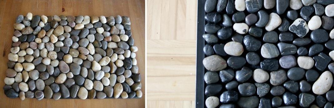 River rocks mat and floor mat