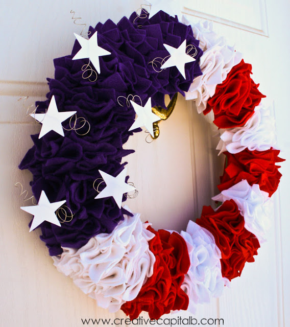 Ruffled patriotic wreath white balance edit