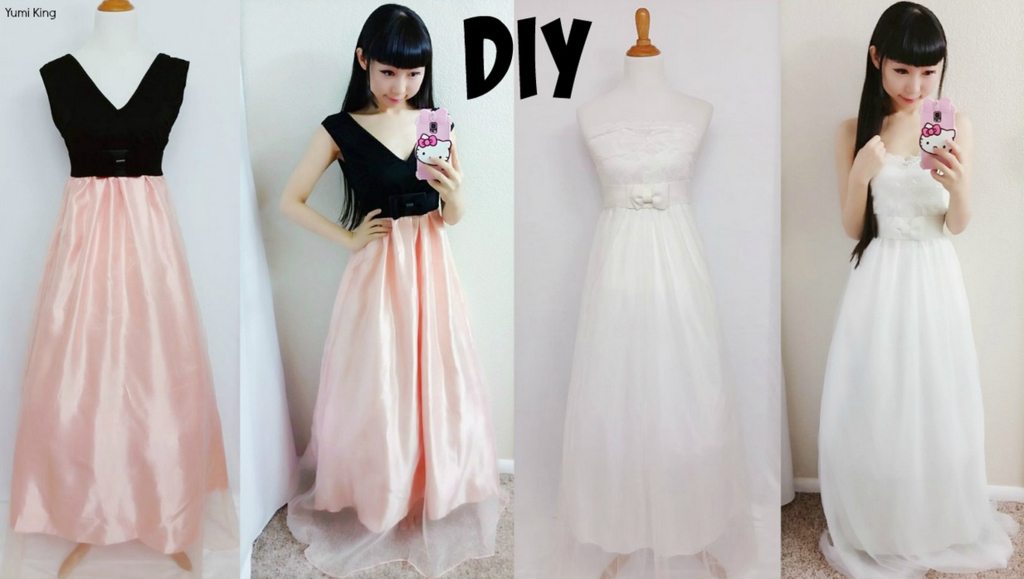 Silk skirt dresses with chiffon overlays from scratch