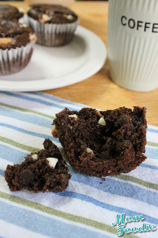 Triple chocolate bomb oatmeal muffins