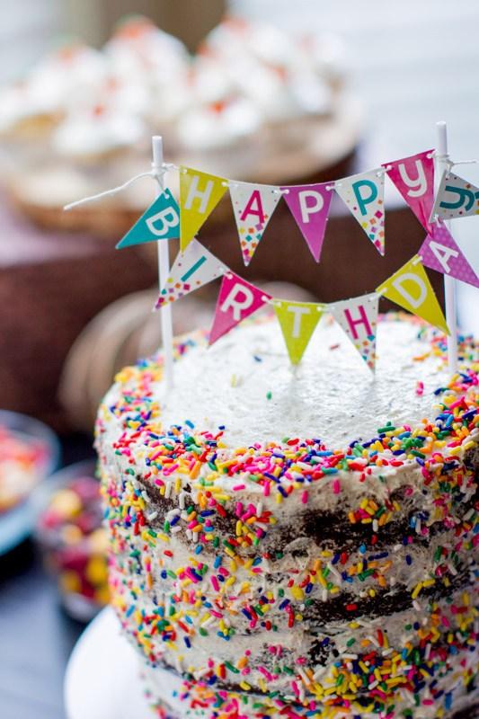 Vegan birthday smash cake