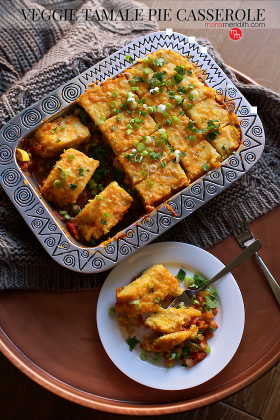 Veggie tamale pie