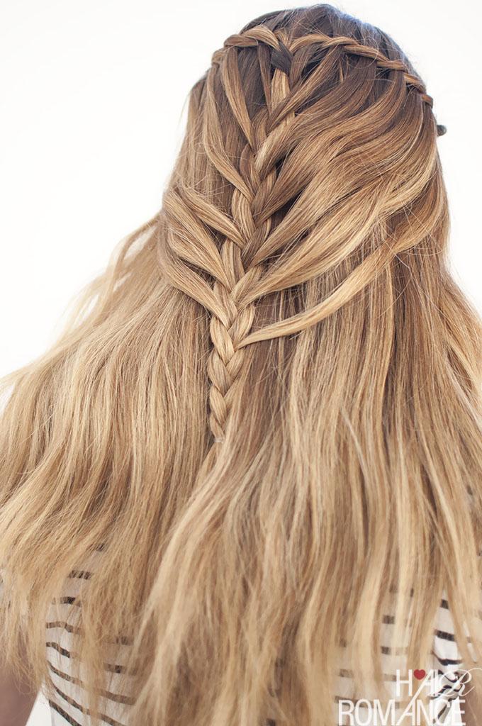 Waterfall mermaid braid