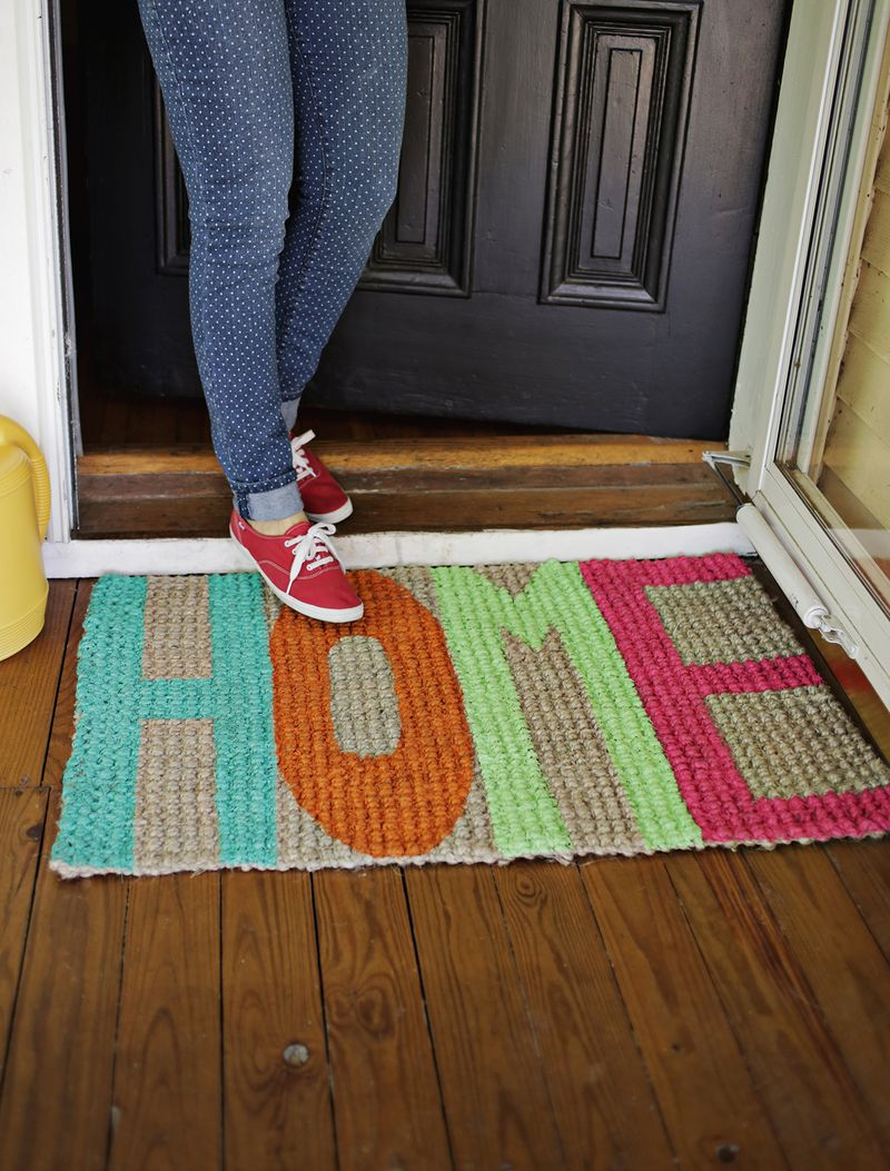 Welcome painted mat