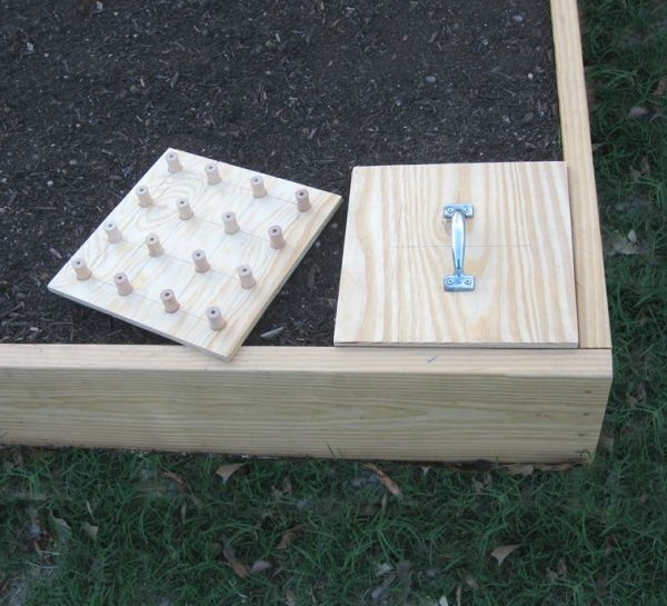 Wooden planting templates