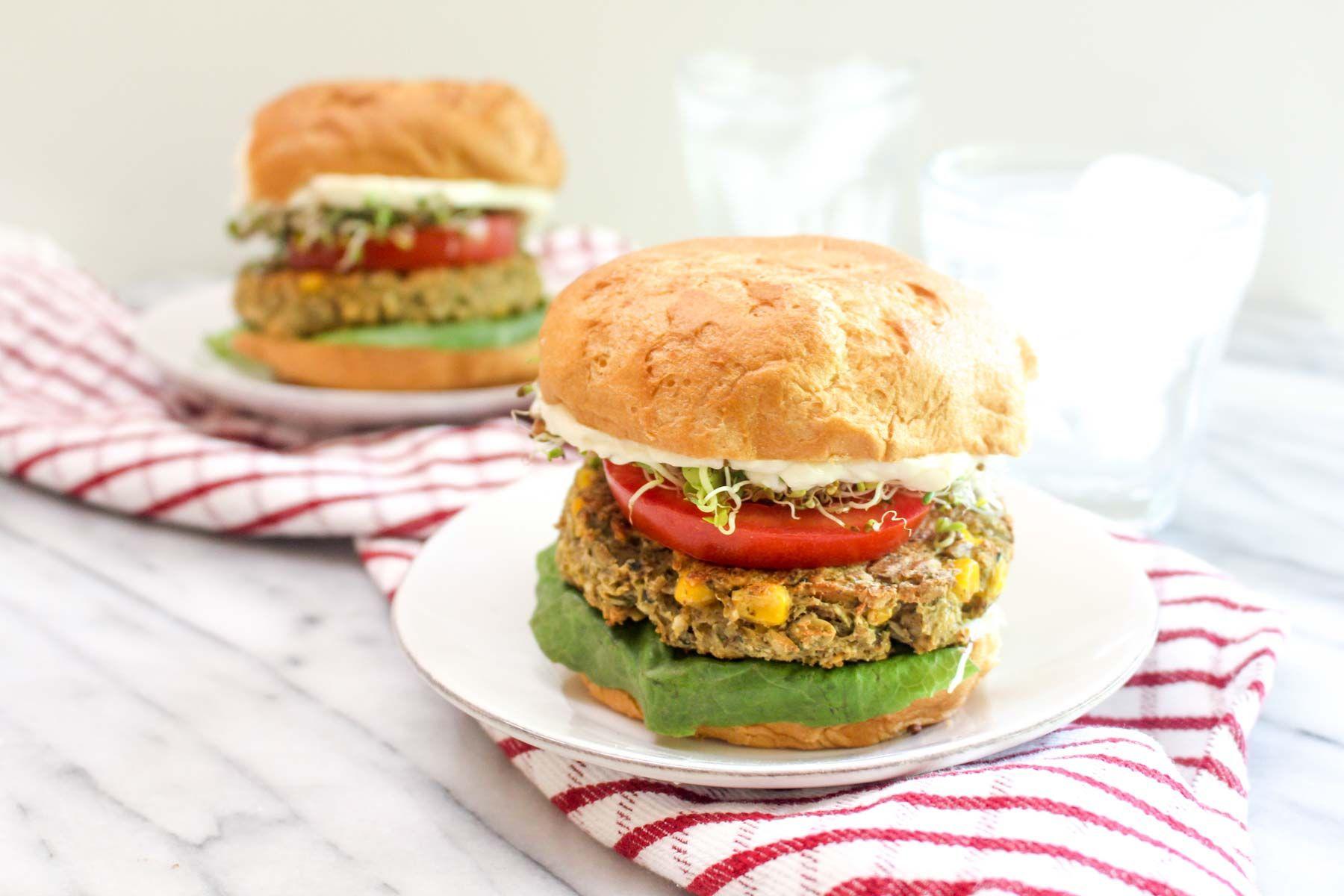 Zucchini corn veggie burgers recipe