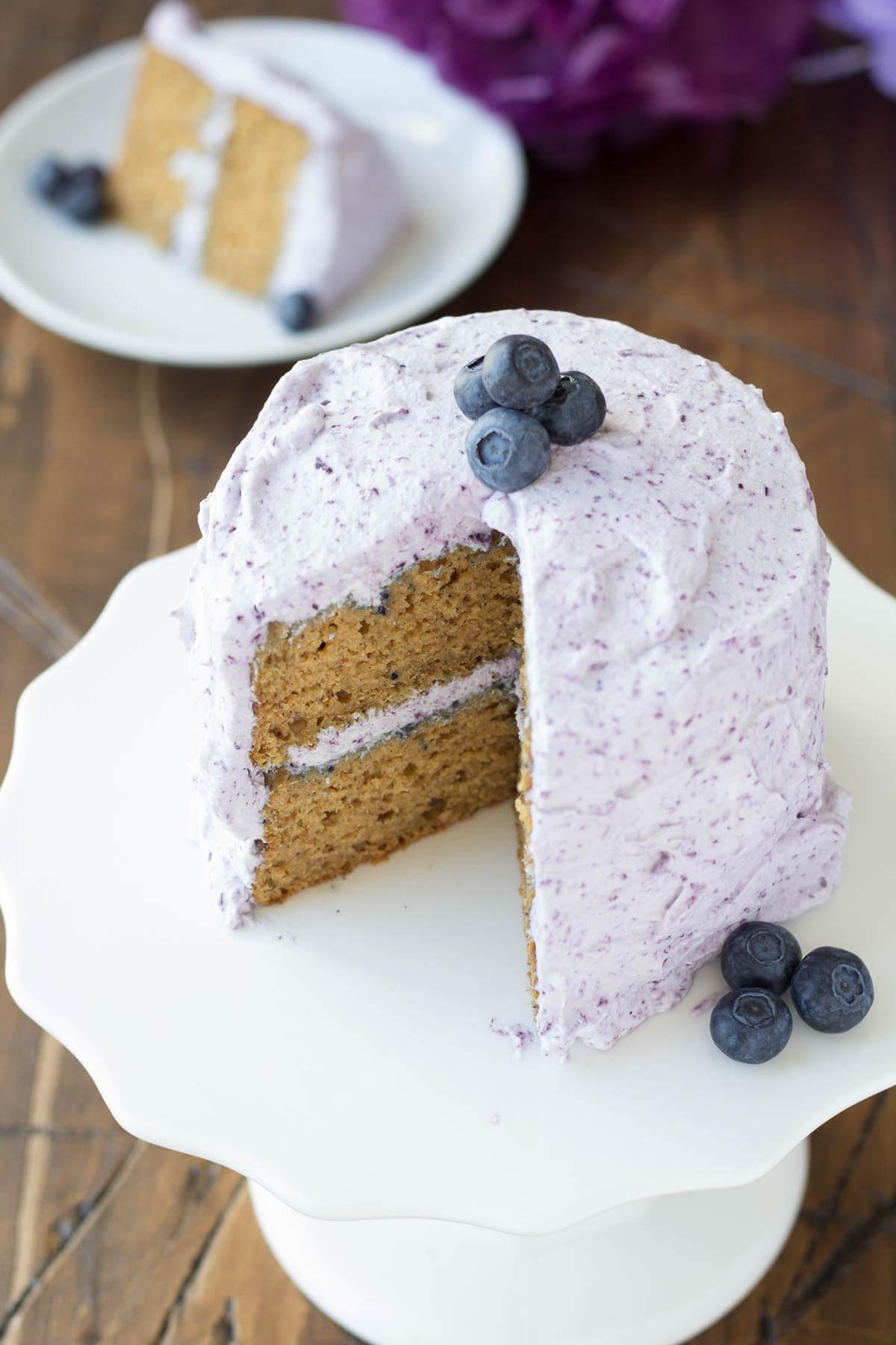 Banana blueberry smash cake recipe