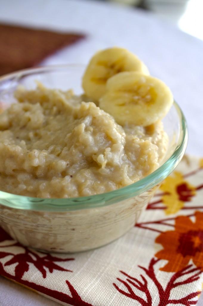 Banana brown rice for baby