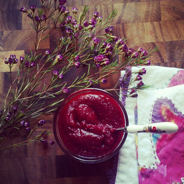 Beets and blueberry mash
