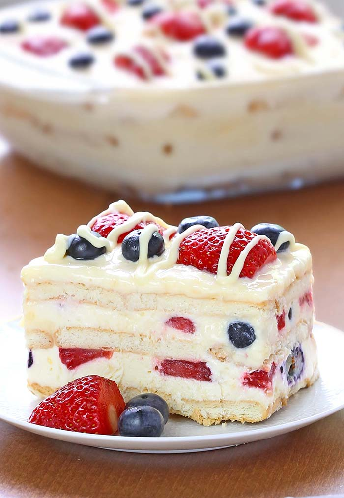 Berry icebox cake recipe