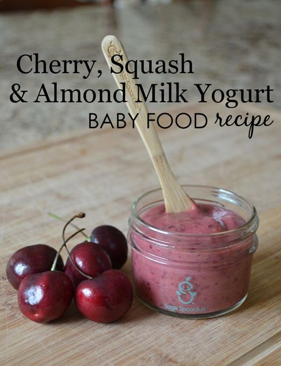 Cherry squash almond milk yogurt