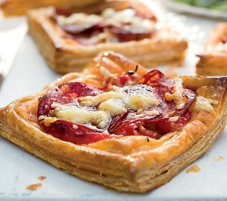 Chorizo red pepper and manchego tarts