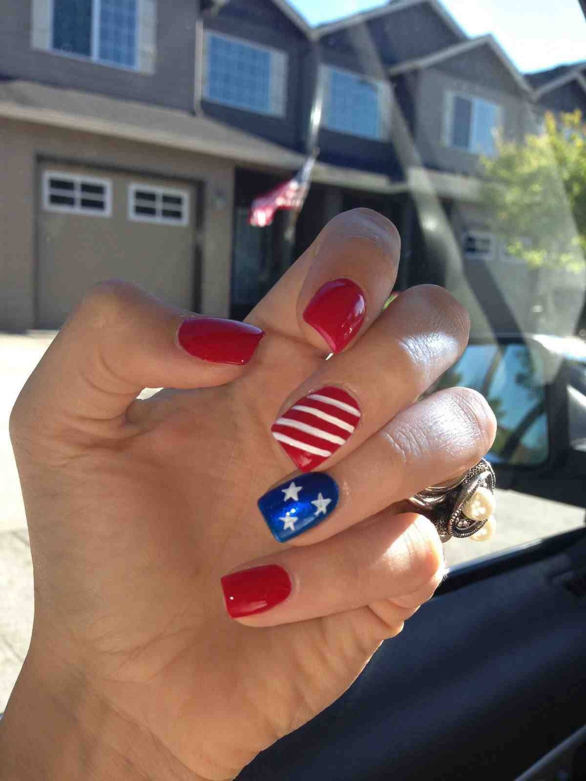 Classic july 4th nail art