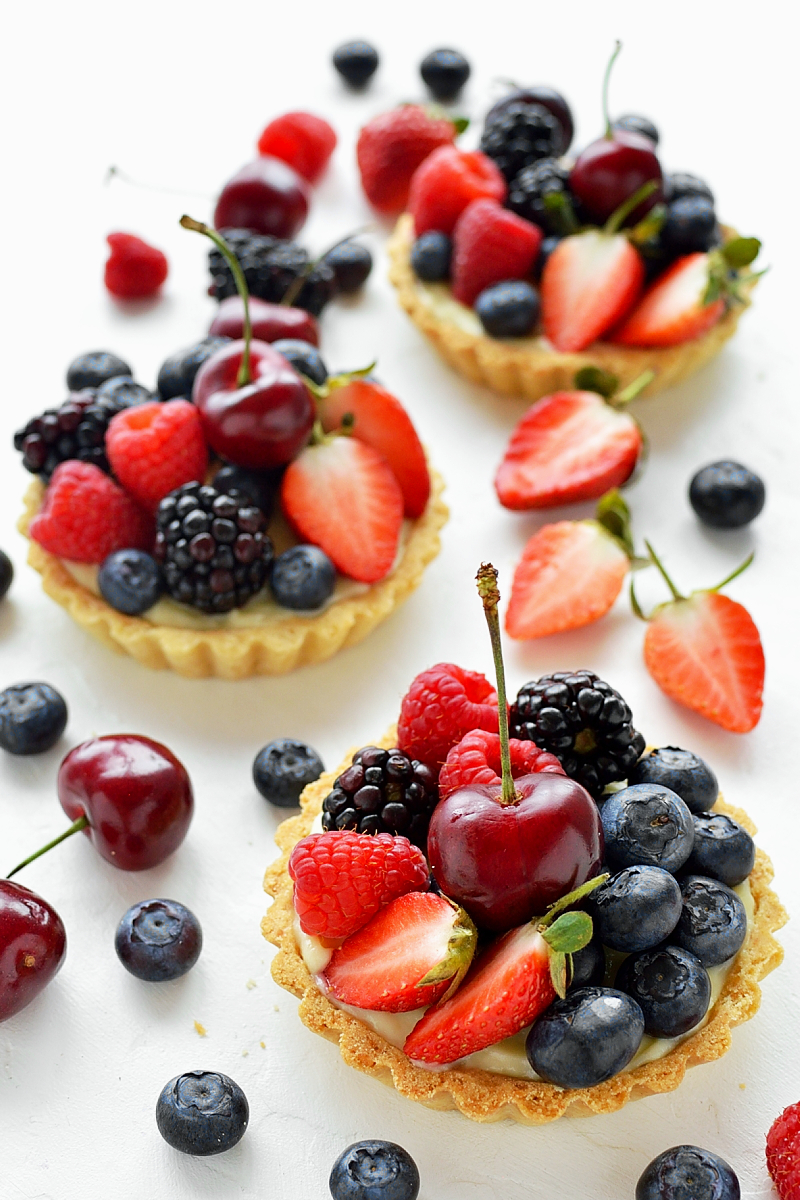 Coconut and berry fruit tartlets