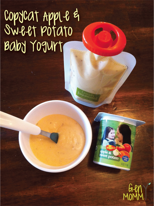 Copycat apple and sweet potato baby yogurt