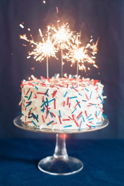 Diy confetti cake for fourth of july