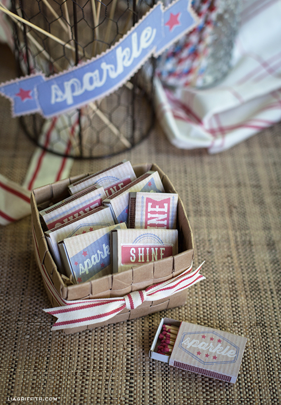 Diy matchbox labels