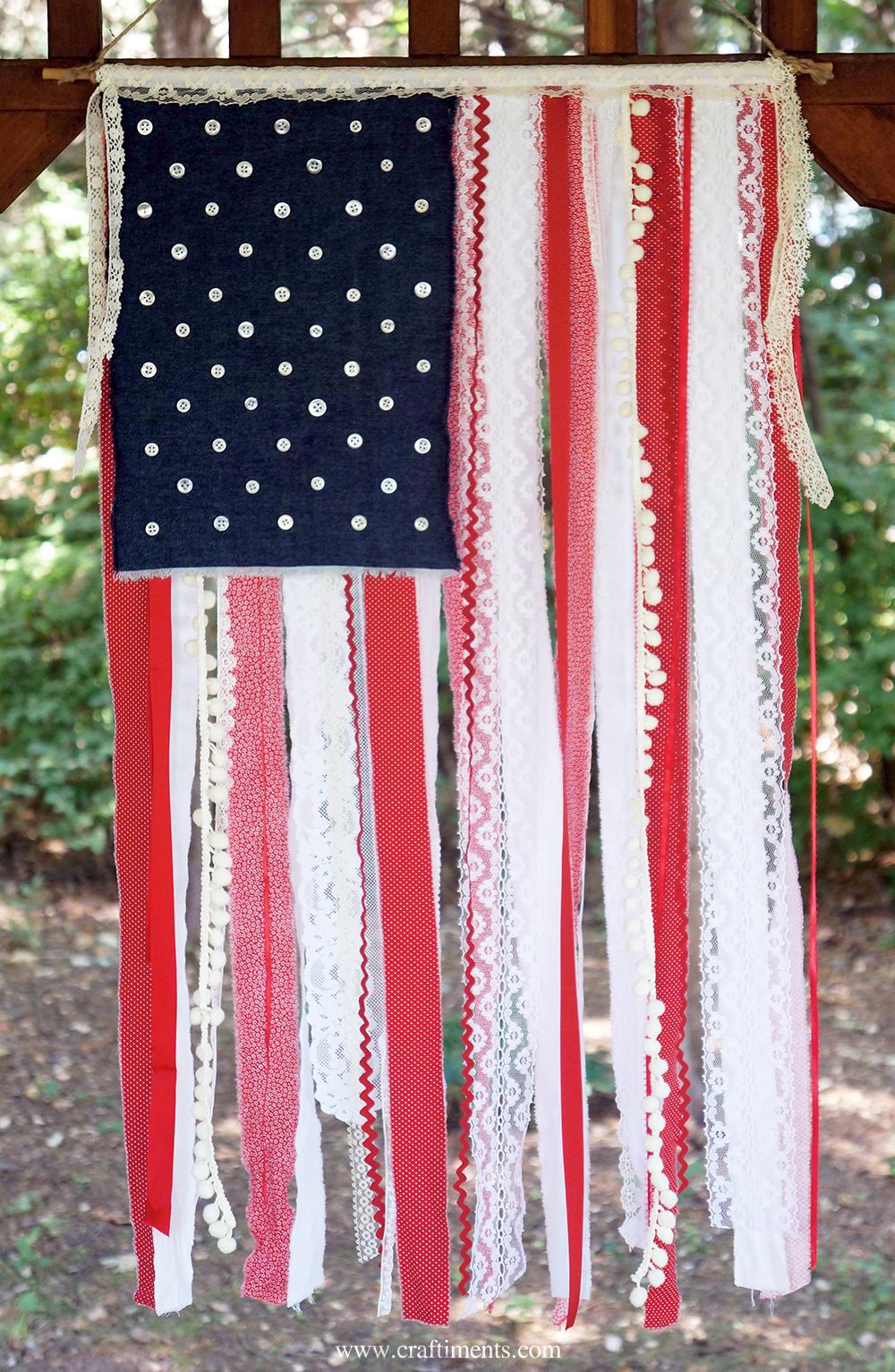 Diy scrap american flag