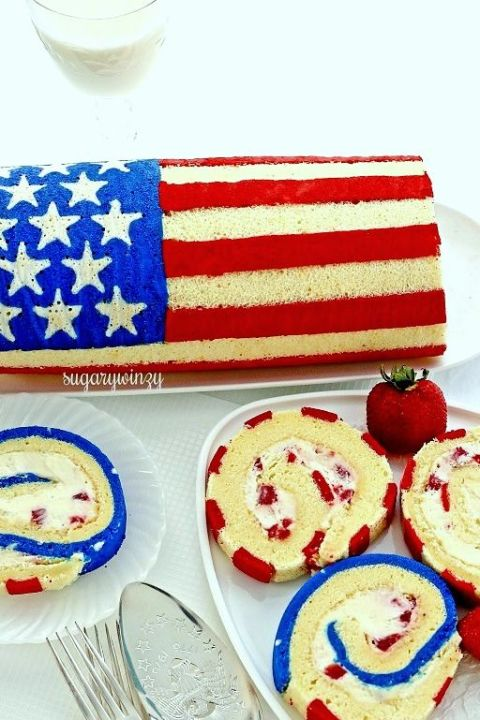 Flag roll cake recipe