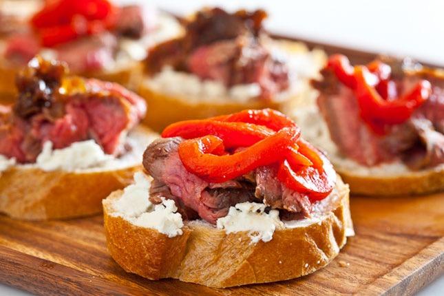Flank steak goat cheese tapas recipe 7910