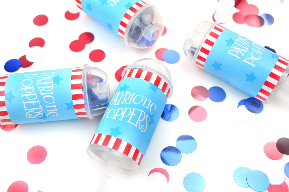 Fourth of july confetti poppers free printable kids