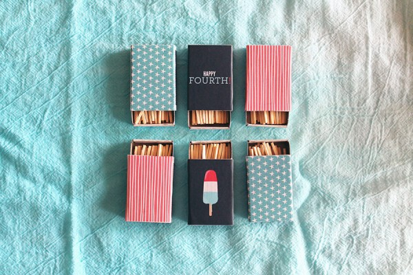 Fourth of july matchboxes diy
