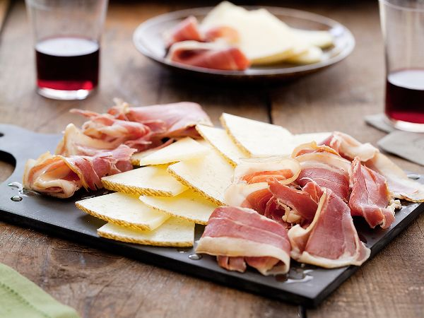Ham and cheese plate spanish style