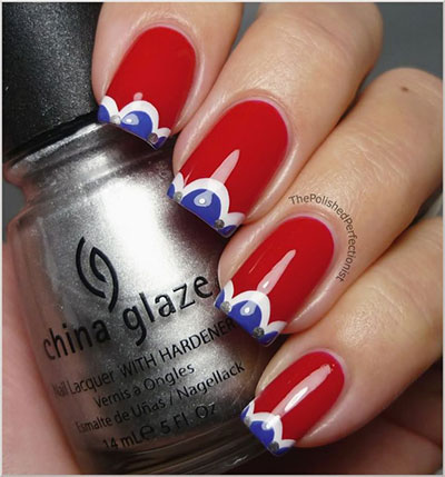 July 4th nail tip design idea