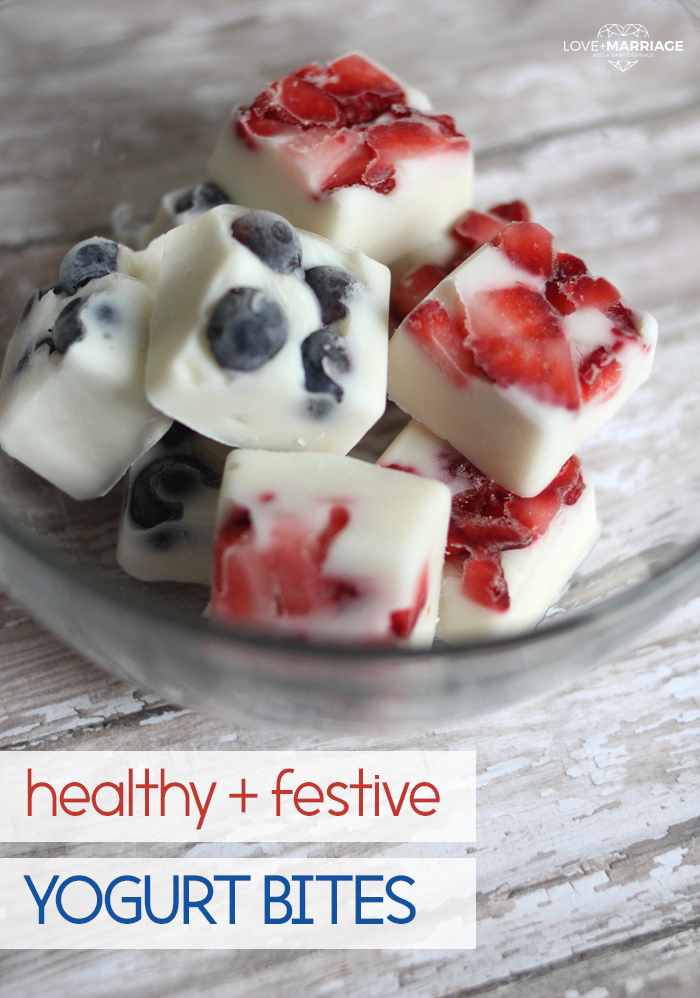 July 4th yogurt bites