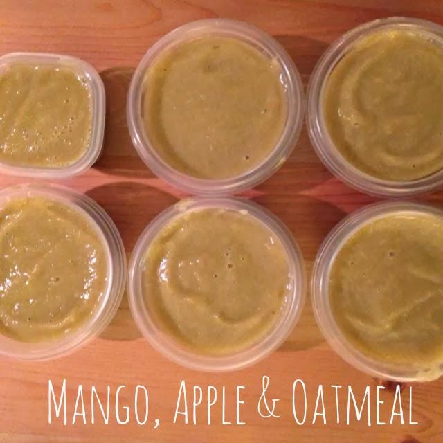 Mango apple oatmeal