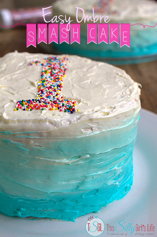Ombre smash cake