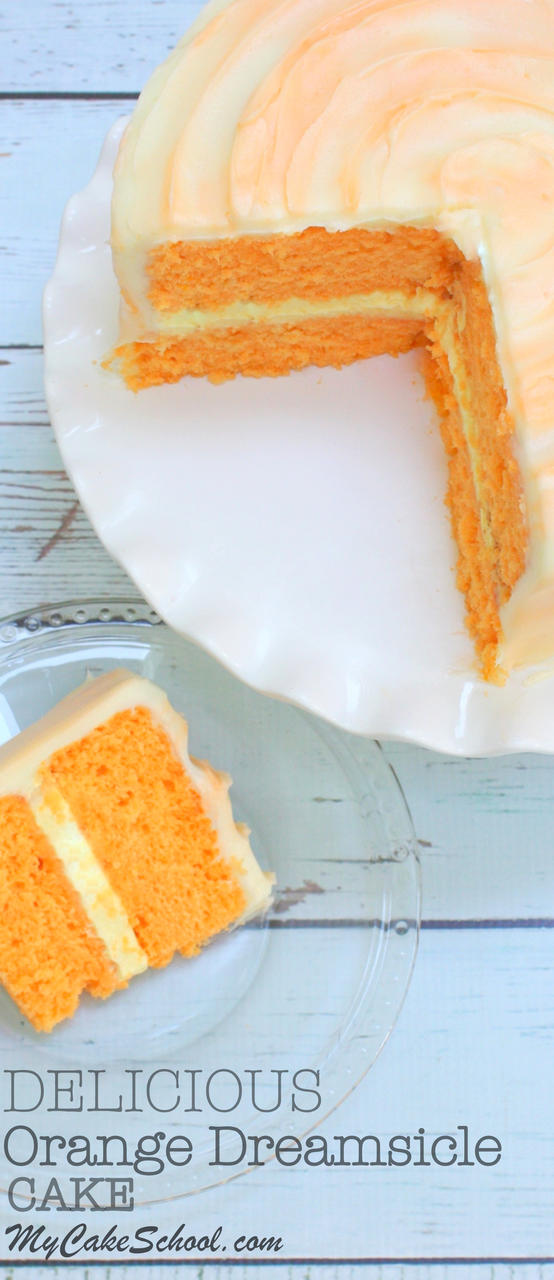 Orange dreamsicle cake recupe