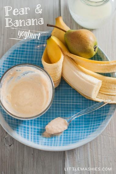 Pear banana home made baby food puree small