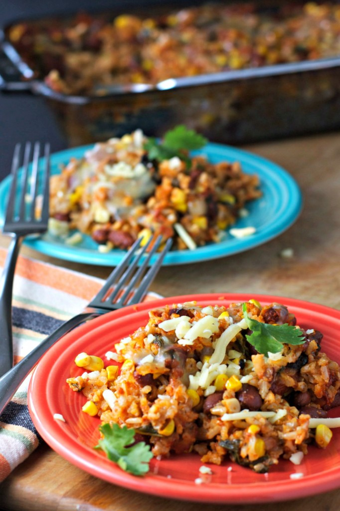 Rice and bean casserole vegan