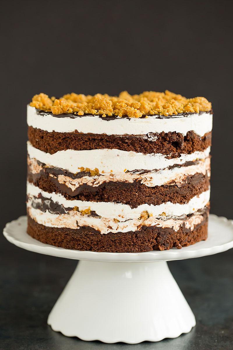 Smores layer cake