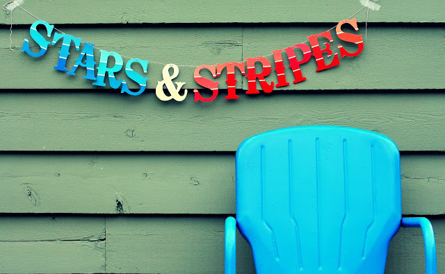 Stars and stripes banner diy