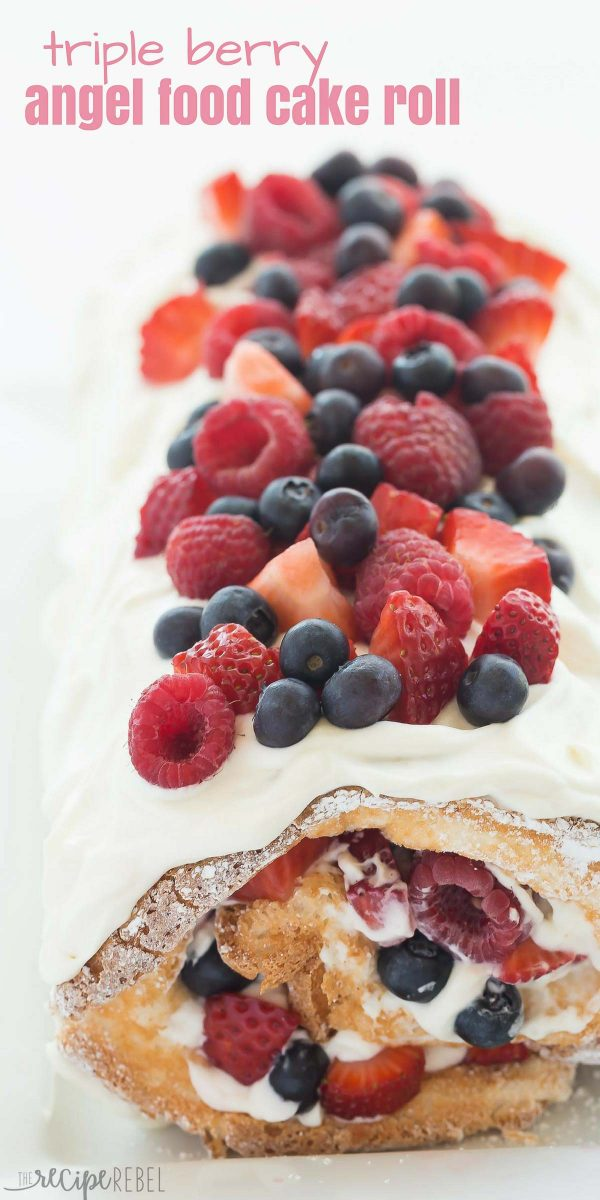 Triple berry angel food cake roll recipe www thereciperebel com 1 of 1 600x1200
