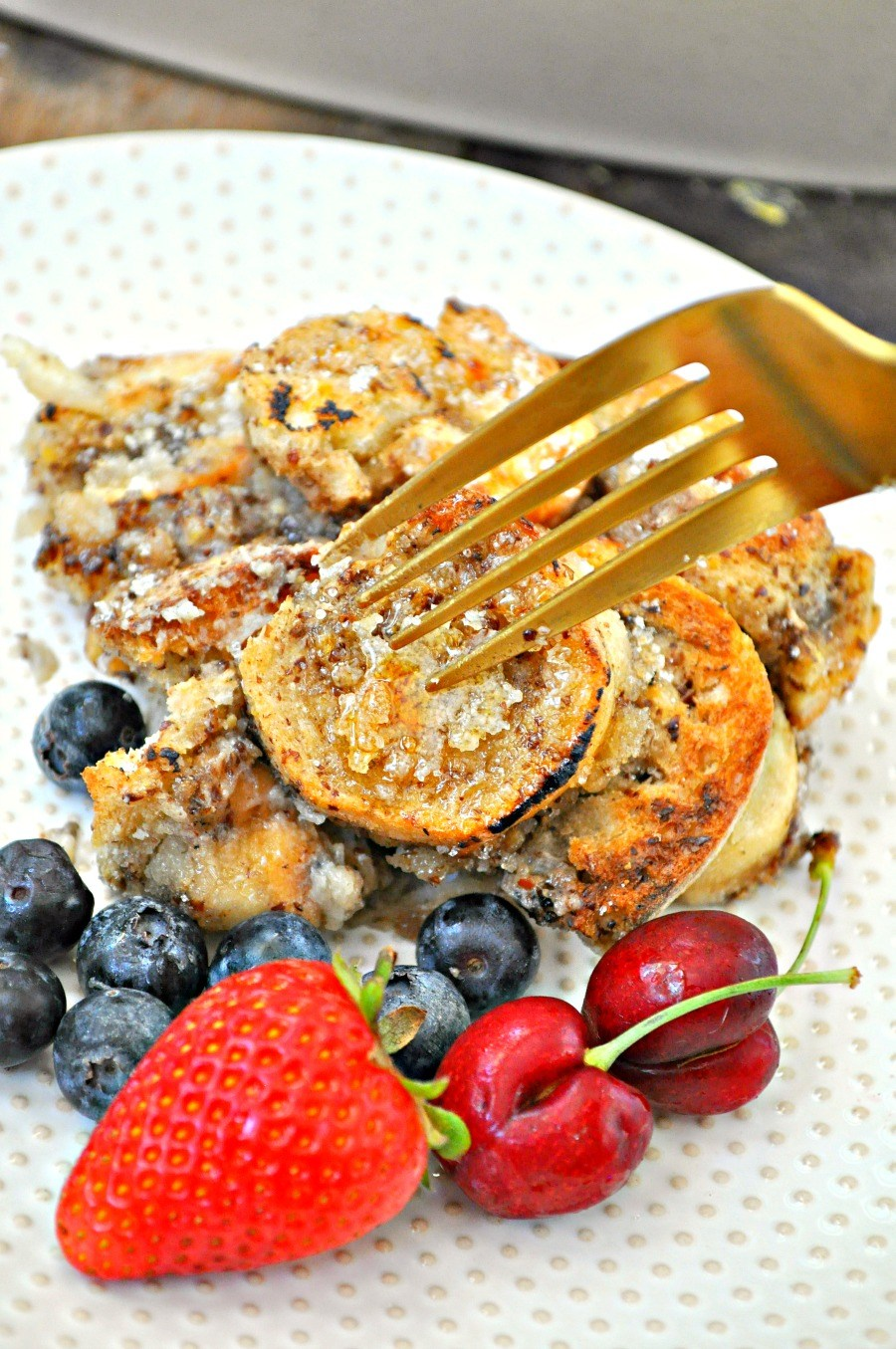 Vegan creme brulee french toast casserole