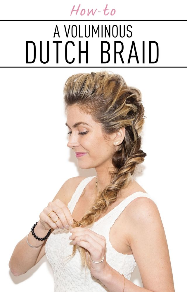 Voluminous dutch braid