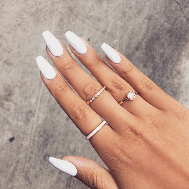 White manicure idea
