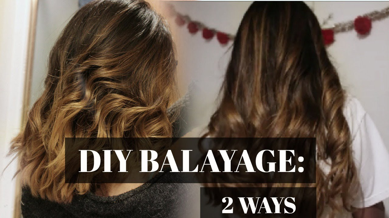 2 ways balayage hair