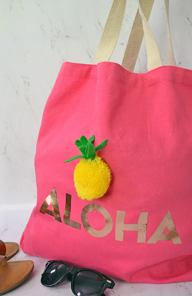 Aloha tote bag carryall project