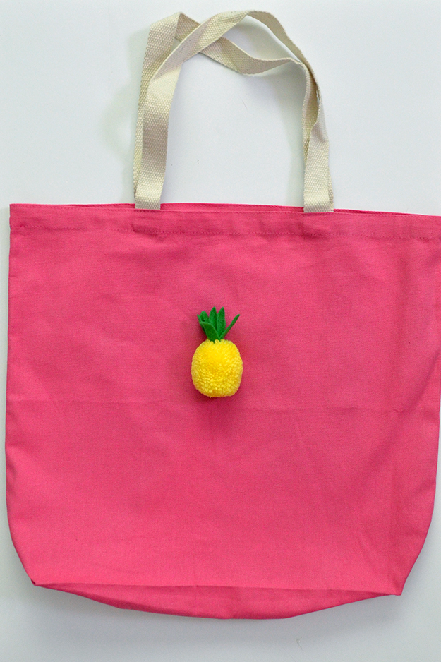 Aloha tote bag carryall add the glue behind the pineapple
