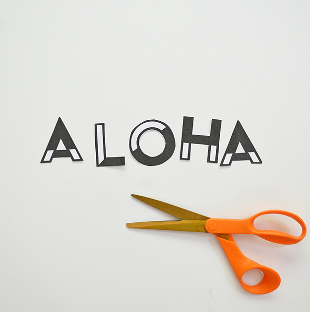 Aloha tote bag carryall cut the letters