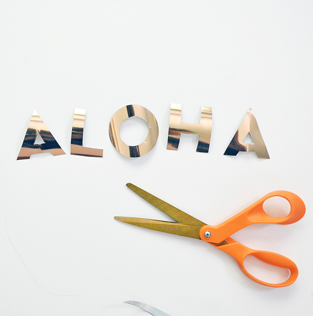 Aloha tote bag carryall cut your own letters