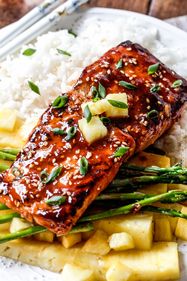 Asian barbecue salmon