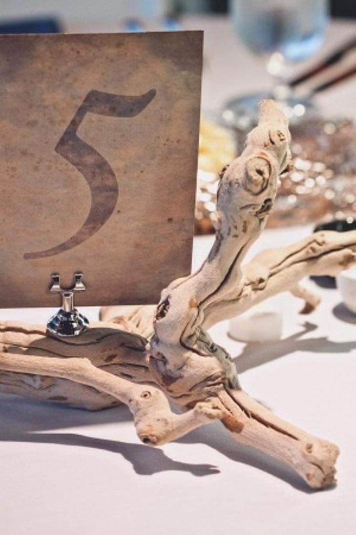 Beach wedding table number ideas 1