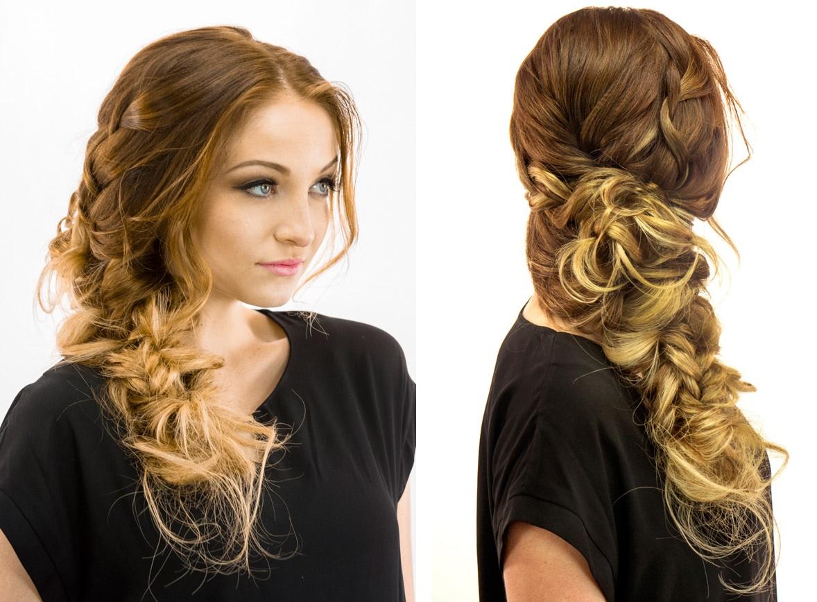 Big bohemian side braid