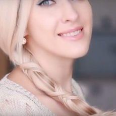 Blonde hair modern hairstyle