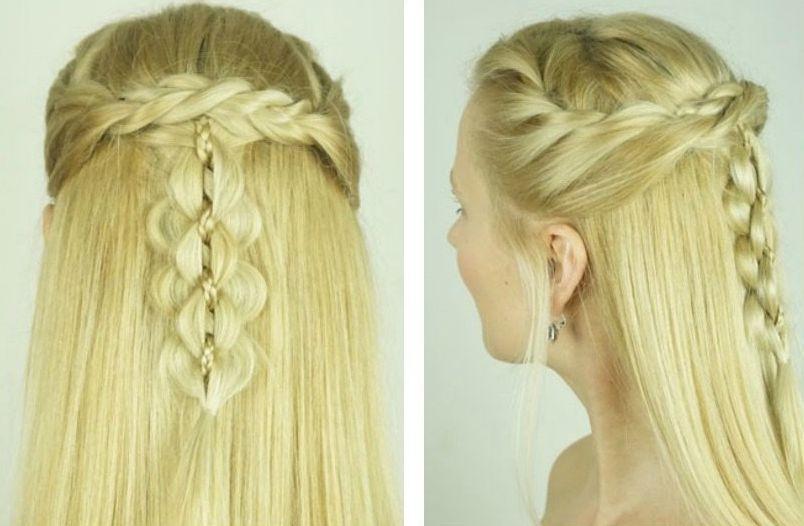 Blonde hairstyle design